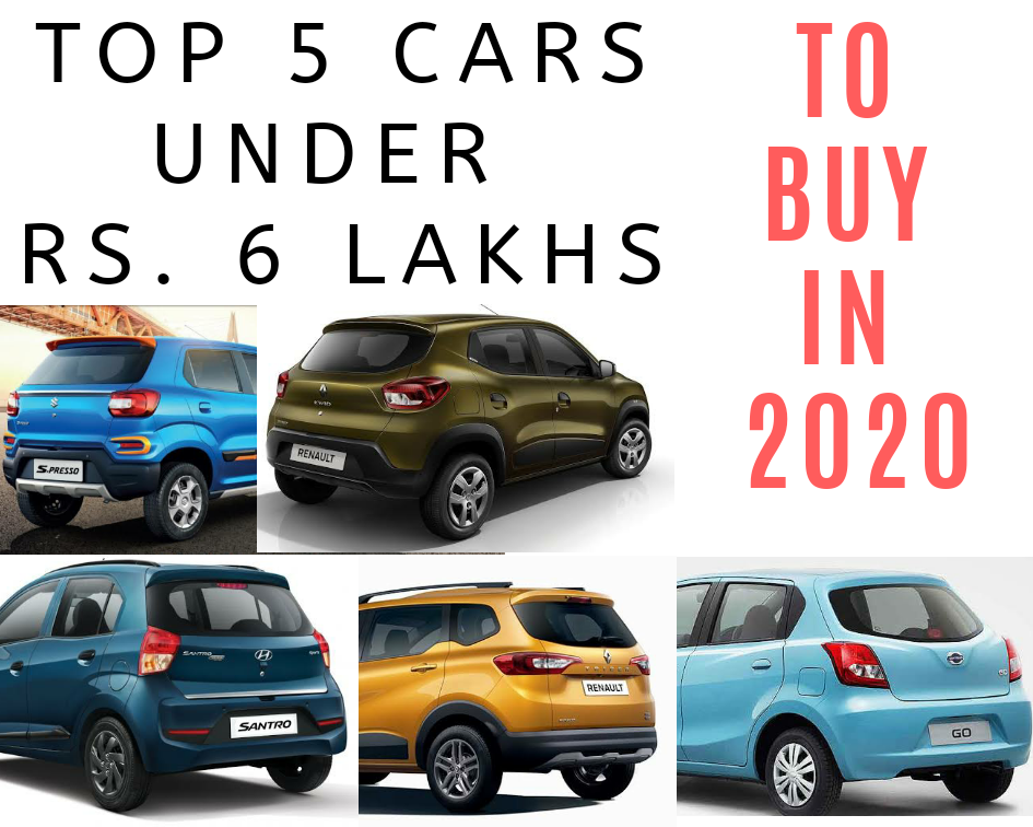 Top 5 Cars Under Rs 6 Lakh Your City Commuters Motorzeal