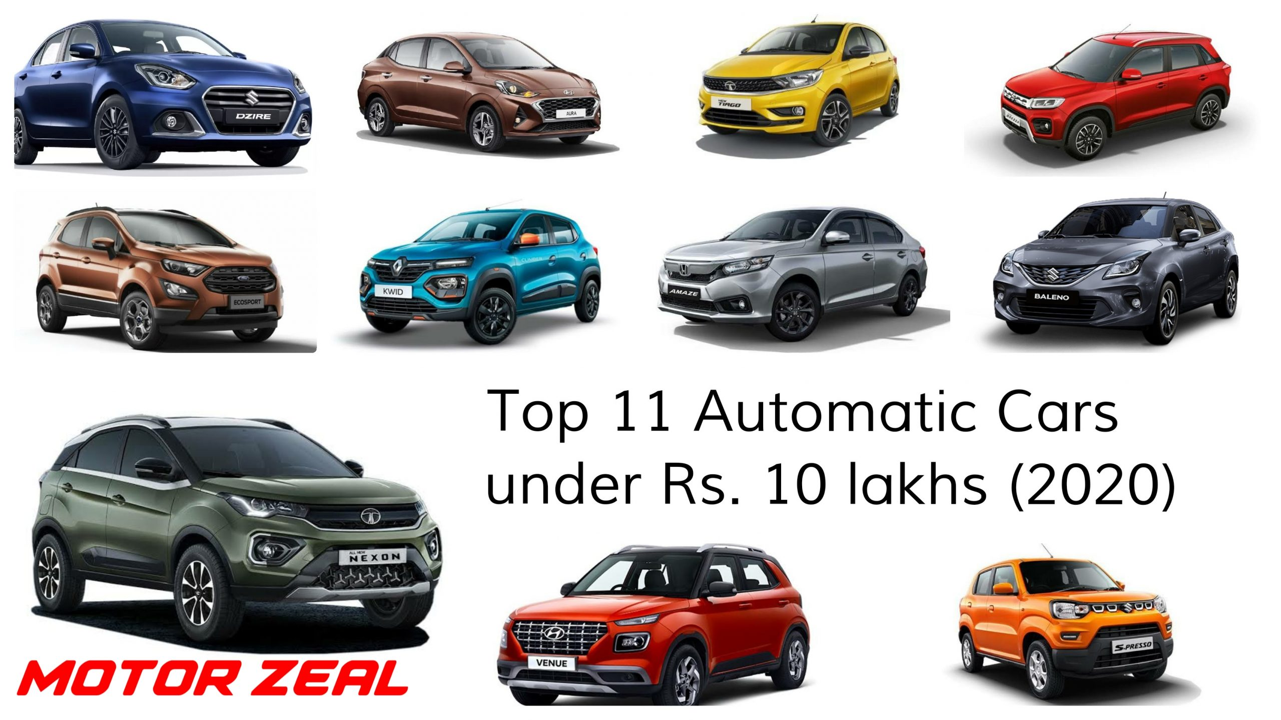 Top 11 Automatic Cars under 10 lakhs Motorzeal